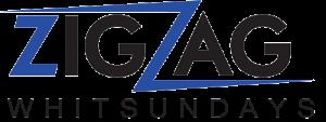 zigzag Whitsundays Business Logo in blue and black