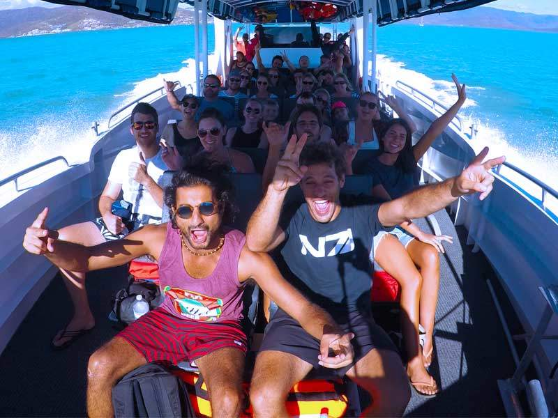 guests having fun on our whitsundays day tour