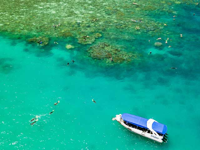 Drone Over Airlie Beach Snorkeling Tour Location