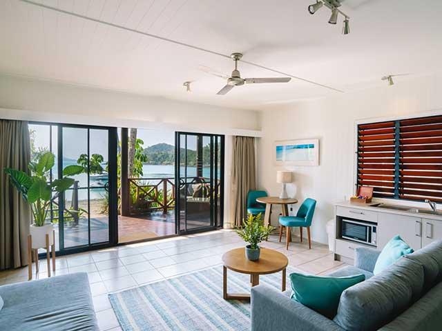 beach villa room inside